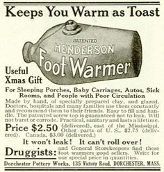 1922 Ad Dorchester Pottery Works Henderson Foot Warmer Medical Health Pharmacy | eBay