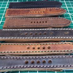 That is HOT leather! www.vintagerstraps.com #vintagerstraps #paneraistraps #paneraicentral #handmade #madeintheusa #watchstraps #panerai