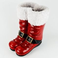 Santa Boots Decoration at cracker barrel I want some to put big candy canes in