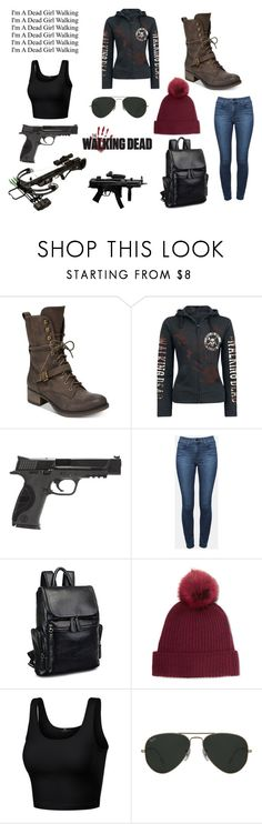 """""""The Walking Dead- My outfitt"""" by paige05campbell on Polyvore featuring American Rag Cie, Smith & Wesson, Theory, Karl Donoghue and Ray-Ban"""