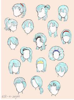 DBZ Bulma's hair styles