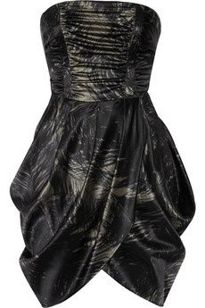 I love this McQ Alexander McQueen Ruched stretch silk-satin dress (via Shop It To Me)