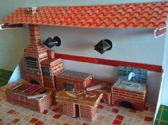 PAPERMAU: The Ephemeral Museum - Brazilian Barbecue Diorama Paper Modelby Nigrafox Papermodels