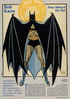 From 1989's Comics Scene #6, a drawing of Batman by Bob Kane (maybe).