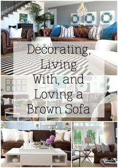 Have a brown sofa that you are over? Revive it with these ideas!
