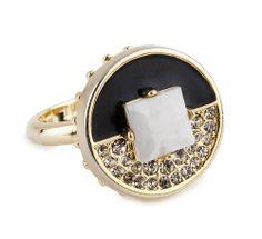 Love this gold and black cocktail ring