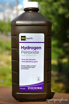 Hydrogen Peroxide - the amazing green bleach alternative! I no longer use bleach and love using something that works and is green.