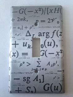 Math Formulas Geekery Light Switch Covers Home Decor Outlet