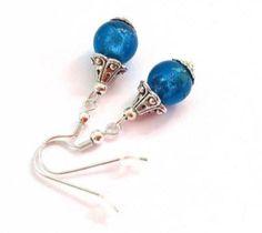 Ohrringe Ohrhänger Türkis Blau Tibetsilber von INEZZA  -  Geschenkestübchen auf DaWanda.com