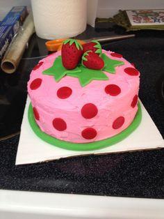 Strawberry Shortcake Smash Cake
