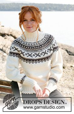 Sweaters for women Knit sweater Pullover sweater Mohair sweater Pullover women Knitted sweater Nordic sweater Fair isle sweater Gift for her Hand Knitted Sweaters, Mohair Sweater, Knitted Blankets, Drops Design, Afghan Patterns, Knitting Patterns Free, Free Knitting, Fair Isle Pullover, Handgestrickte Pullover