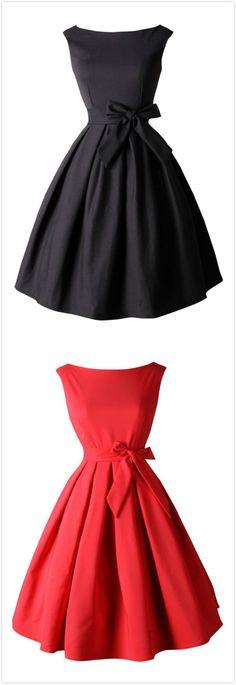 Azbro's Boat Neck Sleeveless Tie Waist Pleated Swing Dress