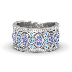 blue topaz or tanzanite claddagh wedding ring - Google Search