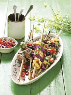 Lamb and halloumi kebabs #Braai