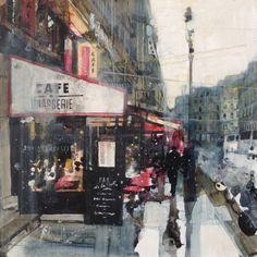 Cafe near Place de la Madeleine, Julian Sutherland-Beatson