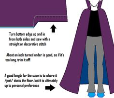 "Eridan Ampora Cape Tutorial major-marjoram: "" (Aka: Long Cape with Stand Up Collar Tutorial) It was requested of me to do a tutorial for Eridan's cape, and although I have never cosplayed him, I have."