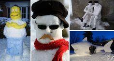 Снеговик в каждый двор... или 30 фото забавных снеговиков, которые получились внезапно)