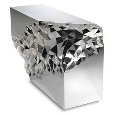 Stellar Console Table. Amethyst geodes inspired London-based designer Jake Phipps