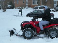 Greta Schwartz, Harrisonburg This is mt husband David. He loves the snow now that he doesn't have to do any shoveling.He not only does our driveway ,he does our neighbors and the street. #WHSVsnow driveway