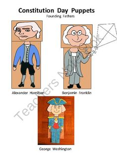 Constitution Day Founding Father Puppets from Melissas Corner on TeachersNotebook.com (6 pages)