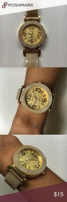 Beige Gold Watch round bracelet watch, 35 mm Jewelry Bracelets