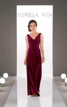 53c30204e618 8862 soft luxe garnet Sorella Vita Bridesmaid Dresses, Bridesmaid Dress  Styles, Cap Sleeve Bridesmaid