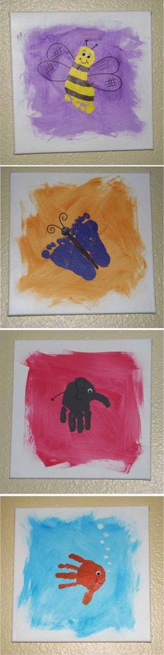 5 Fun Handprint Canvas Art Ideas | DIY Kids Crafts You Can Make In Under An Hour DIY Craft and Craft Project How To Info | Project Difficulty: Simple MaritimeVintage.com
