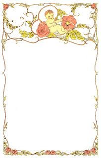 Baby and Roses Design Digital Frame...this would be perfect for a baby shower or scrap booking. Too cute!