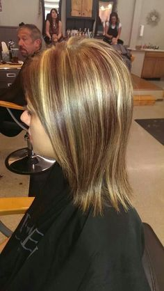 Lots of dimension Red Blonde & Brown highlights & Lowlights @Roots Hair Design ✂ Hair by Ashley Winters