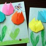 Origami+Tulips