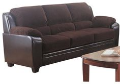 Coaster Monika Stationary Sofa in Chocolate transitional-sofas