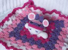 Giraffe Crochet Baby Blanket Baby Lovey Baby by NikkisCraftShoppe