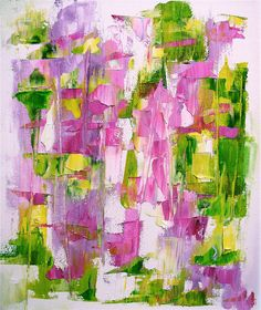 Painting on offer original abstract oil bright by Mossmottle