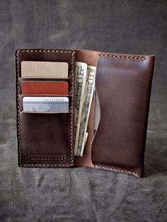 """Bas and Lokes Handmade Leather Goods - """"Brent"""" Burgundy Handmade Leather iPhone Wallet, $120.00 (http://www.basandlokes.com/brent-burgundy-handmade-leather-iphone-wallet/)"""