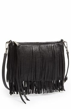 convertible leather fringe clutch from @nordstrom