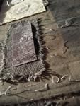 'Sola : Solus' textile,mixed media,stitch,silver wire by Gizella K. Warburton