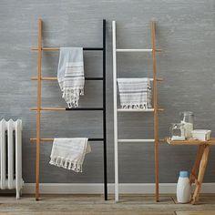 Umbra Hub Adjustable Organizational Ladder downstairs bath #westelm