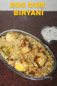 Delicious egg dum biryani which taste so delicious with raita or salna. You can make this in under 45 mins. Perfect for lunch. Fried Fish Recipes, Veg Recipes, Indian Food Recipes, Cooking Recipes, Dishes Recipes, Recipies, Healthy Recipes, Rice Dishes, Food Dishes