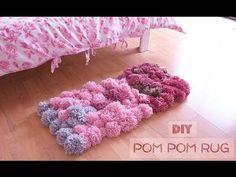 DIY Pom Pom Rug - Bedroom Decor Tutorial, My Crafts and DIY Projects
