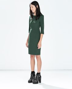ZARA - WOMAN - BODYCON DRESS WITH SHOULDER ZIP