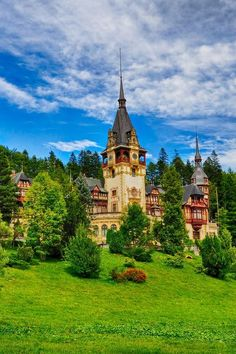 Peles Castle, a medieval castle surrounded by woods, in the Carpathian Mountains of Transylvania - Romania Places Around The World, Oh The Places You'll Go, Places To Travel, Places To Visit, Around The Worlds, Beautiful Castles, Beautiful Buildings, Beautiful World, Beautiful Places