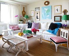 Diseño fresco y brillante, con una mezcla ecléctica de antigüedades, colores y texturas para crear espacios que definitivamente llaman la atención. ¡Nos gusta!