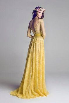 Hamda Al Fahim S Yellow Lace Wedding Dresseslong