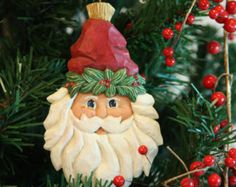 Christmas Decor Wood Carvings curated by The Wood Carvers of Etsy on Etsy, by Susan L Hendrix, Wasatch Woodcarver