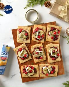 Christmas Snacks, Christmas Brunch, Christmas Appetizers, Christmas Cooking, Holiday Treats, Holiday Recipes, Snacks Für Party, Holiday Baking, Appetizer Recipes
