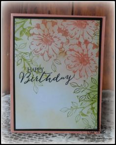 Stampin' Up! ... handcrafted card from The Serene Stamper: Quick Birthday Card ... spring flowers and a bit of sponging ...