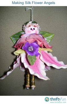 This is a guide about making silk flower angels. Beautiful, decorative angels can be made beginning with silk flowers.