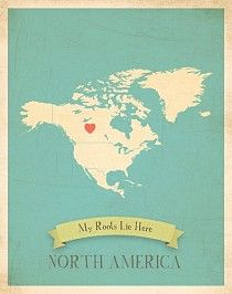 North America My Roots Map from Children Inspire Design