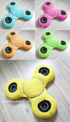 Crochet Spinner Free Pattern - who said crochet can't be trendy!