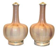 Mid-Century Glazed Porcelain Table Lamps 1